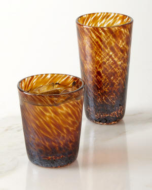 William Yeoward Vanessa Tortoise Double Old-Fashioned Glass