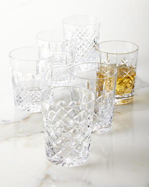 Waterford Crystal Set of 6 Connoisseur Heritage Double Old-Fashioneds