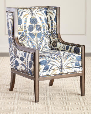 Nancy Linen Accent Chair