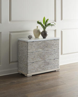 Hooker Furniture Lissardi Marble Top 3-Drawer Chest